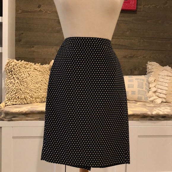 a61431c73 J. Crew Skirts | J Crew No 2 Pencil Skirt Navy Polka Dot | Poshmark